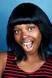 Funny face african woman Stock Photography