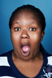 Funny face african woman Royalty Free Stock Photo
