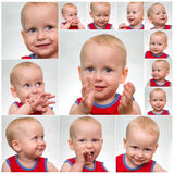 Funny face baby Stock Photo