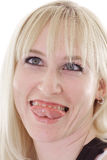 Funny face blonde Royalty Free Stock Photo