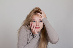 Shocked and surprised businesswoman Royalty Free Stock Photo