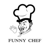 Funny face Chef royalty free illustration