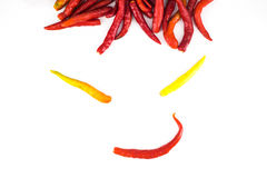 Funny face chili Royalty Free Stock Images