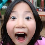 Funny Face chinese Girl Royalty Free Stock Image