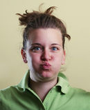 Funny face girl portrait Royalty Free Stock Image