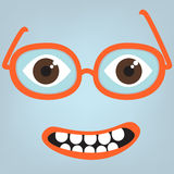 Funny face with glasses Stock Image
