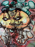 Funny face Graffiti Stock Image