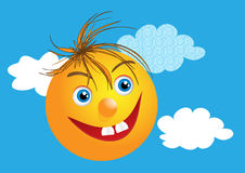 Funny face with happy smile Royalty Free Stock Image