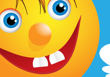 Funny face with happy smile Royalty Free Stock Photography