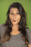 Funny face indian model Royalty Free Stock Photography