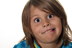 Funny face kid Royalty Free Stock Photos