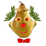 Funny face made of vegetables and fruits Royalty Free Stock Photo