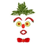 Funny face made of vegetables and fruits Stock Photography