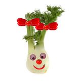 Funny face made of vegetables and fruits Royalty Free Stock Images