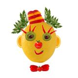Funny face made of vegetables and fruits Royalty Free Stock Image