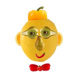 Funny face made of vegetables and fruits Stock Images