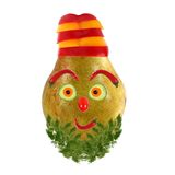 Funny face made of vegetables and fruits Royalty Free Stock Photography