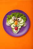 Funny face made of vegetables Royalty Free Stock Photo