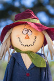 Funny face scarecrow Stock Image