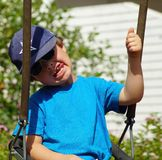 Boy grins for the camera. Royalty Free Stock Images