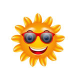 Funny Face of Summer Sun with Sunglasses Royalty Free Stock Photography