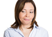 Funny face woman Stock Image