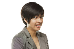 Funny Faced Young Mixed Race Young Adult Woman Portrait Stock Photography