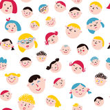 Funny faces seamless pattern Royalty Free Stock Images