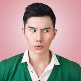 Funny facial expression Stock Image