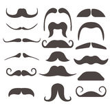 Funny fake moustaches for mouth mask vector collection Stock Image