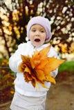 Funny fall girl Royalty Free Stock Photos