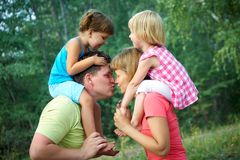 Funny   family Royalty Free Stock Photo
