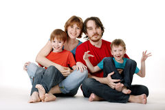 Funny family Stock Photo
