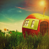 Funny farm. abstract fantastic landscape Royalty Free Stock Images