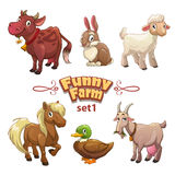 Funny farm illustration Stock Image