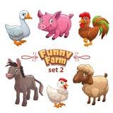 Funny farm illustration Royalty Free Stock Image