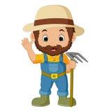 Funny farmer cartoon Royalty Free Stock Image