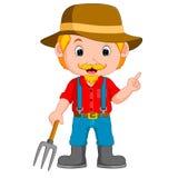 Funny farmer cartoon Royalty Free Stock Photos