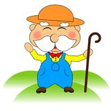 Funny farmer character. stock illustration