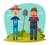 Funny farmers. Cartoon vector illustration. vector illustration