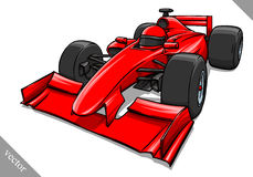 Funny fast cartoon formula race car vector illustration art Royalty Free Stock Photos