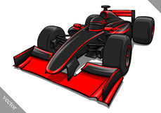 Funny fast cartoon formula race car vector illustration art Royalty Free Stock Photography