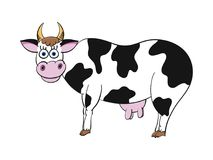 Illustration of happy cartoon cow Royalty Free Stock Photo