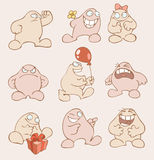 Funny fat cartoon characters Royalty Free Stock Image
