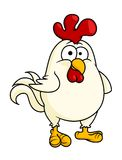 Funny fat little rooster or cock Stock Photo