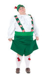 Funny fat man wearing German Bavarian clothes Stock Images