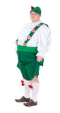 Funny fat man wearing German Bavarian clothes Royalty Free Stock Images