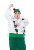 Funny fat man wearing German Bavarian clothes. Funny fat man wearing traditional German Bavarian clothes, isolated on white Stock Photos