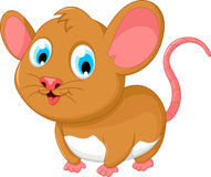 Funny fat mouse cartoon posing Royalty Free Stock Photography