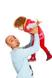 Funny father playing with girl Stock Images